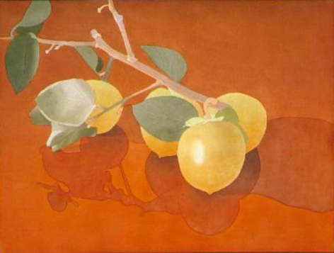 Four Persimmons on Branch