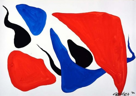 Untitled 1970 gouache on paper