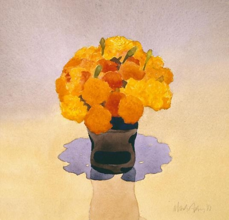 Marigolds in Vase