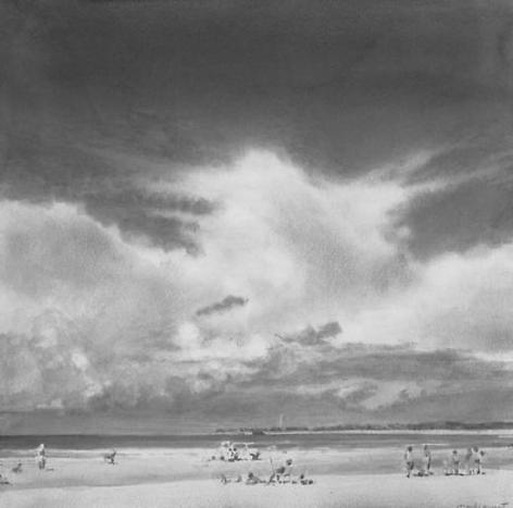 Cloud Study with Figures (II)