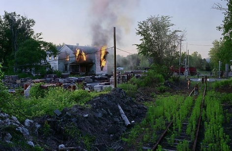 Gregory Crewdson Untitled (house on fire)