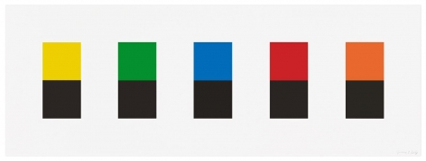 Ellsworth Kelly, Color Over Black, 2012
