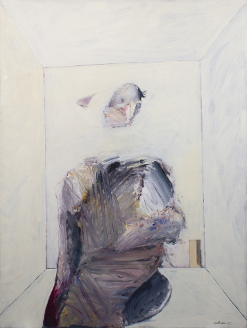 Nathan Oliveira Seated Man in Room, 1969