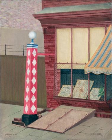 Miklos Suba Barbershop Pole, Ashland Place, 1940