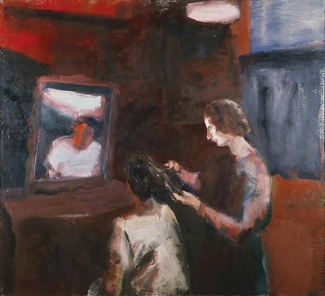 Elmer Bischoff Girl Getting Haircut