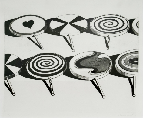Wayne Thiebaud Black Suckers, from Seven Still Lifes and a Silver Landscape, 1971