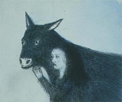 Kiki Smith Girl with Donkey