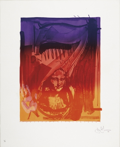 Jasper Johns Figure 7, from Color Numerals Series, 1969