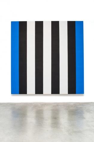 Mary Corse Untitled (White, Black, Blue Beveled), 2014