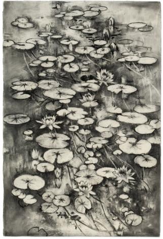 John Alexander, My Pond in Black and White, 2016