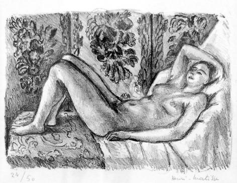 Nu couché au paravent Louis XIV 1923,