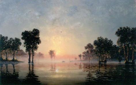 Stephen Hannock Golden Light at Dawn