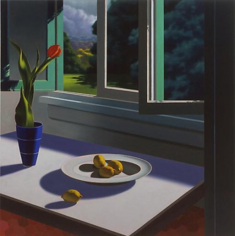 Interior with Red Tulip and Lemon