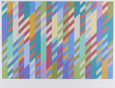 Bridget Riley, First Study for Painting June 3, 1989,1989