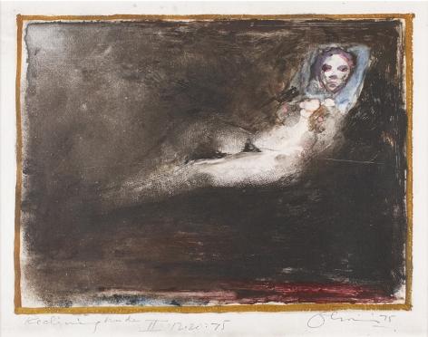 Nathan Oliveira Reclining Nude II, 1975
