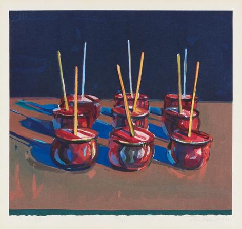 Wayne Thiebaud Candy Apples, 1987