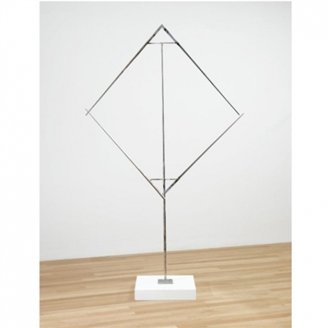 George Rickey, Divided Square Oblique III, 1980
