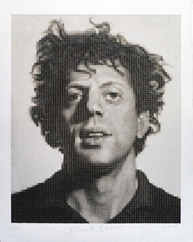 Chuck Close  Phil (WC print on Japanese HMP), 2014