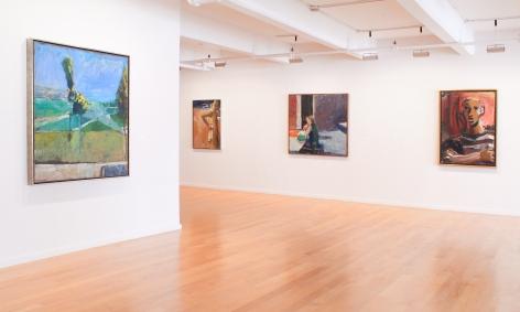 Installation view of David Park, Richard Diebenkorn, Nathan Oliveira, Manuel Neri: Figures and Landscapes, 2014