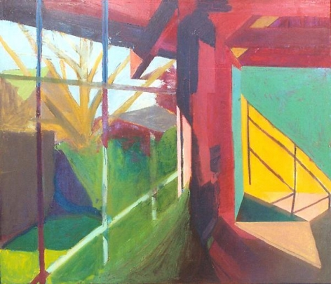 Bruce McGaw Studio Windows, Sunlight, Tree, 1966