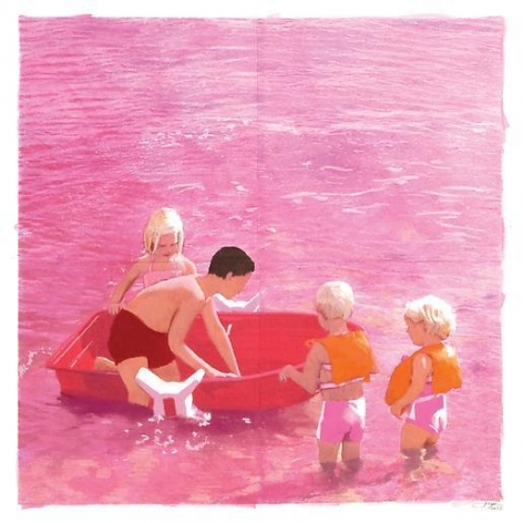 Red Boat Beach, 4 Kids (Pink)