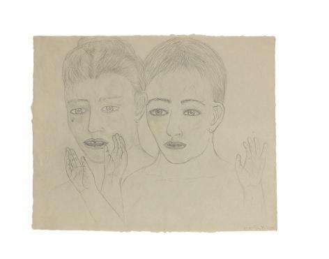 Kiki Smith Whisper Drawing #1, 2000
