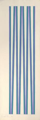 Bridget Riley, Violet crossing Turquoise,1970