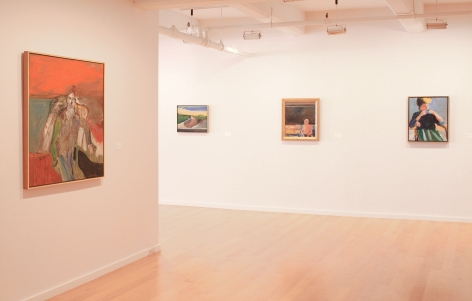 Installation view of David Park, Richard Diebenkorn, Nathan Oliveira, Manuel Neri: Figures and Landscapes, 2014