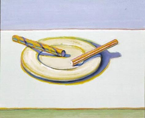 Wayne Thiebaud Two Candy Sticks, 2004