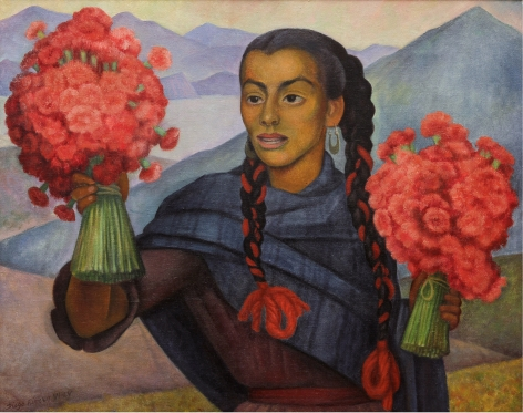 Diego Rivera, Flower Vendor on the Road to Cuernavaca,1955