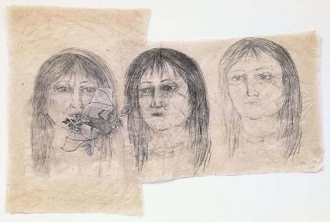 Kiki Smith Three Girls with Bat