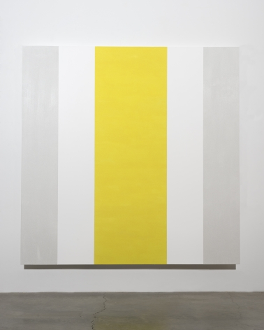 Mary Corse, Untitled (White, White, Yellow, Beveled), 2015