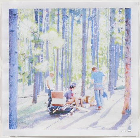Isca Greenfield-Sanders Forest Camping, 2017