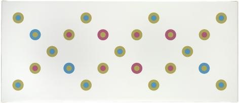 Bridget Riley, Closed Discs,2010/1970