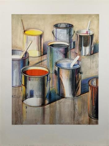 Wayne Thiebaud Paint Cans, 1990