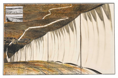 Christo Running Fence, Project for Sonoma and Marin Counties, California, 1976