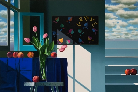 Bruce Cohen Interior with Peaches and Matisse's Verve Cover, 2020