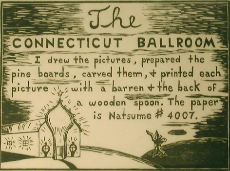 """H.C. Westermann """"Untitled"""" (title page) from """"The Connecticut Ballroom"""""""