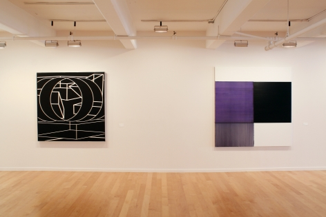 Al Held and Callum Innes Installation Shot