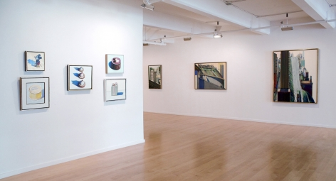Installation view of Wayne Thiebaud: Paintings and Pastels, 2012