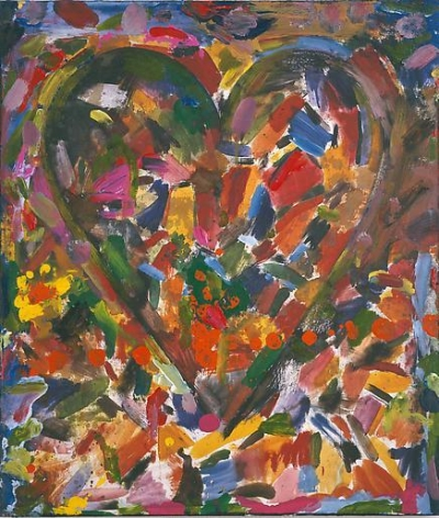 Bananas 2003 mixed media on wood panel