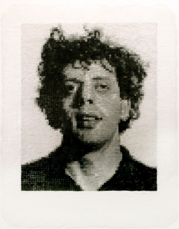 Chuck Close, Phil I (White), 1982