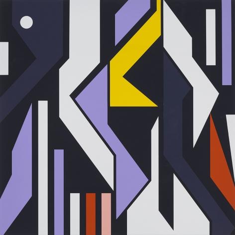 Sarah MorrisKhalifa City [Abu Dhabi], 2017Household gloss paint on canvas35 3/8 x 35 3/8 inches