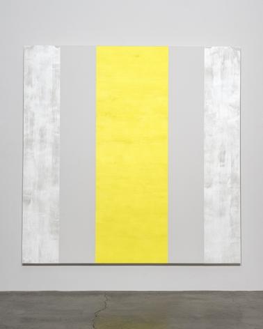Mary Corse Untitled (White, White, Yellow, Beveled), 2015