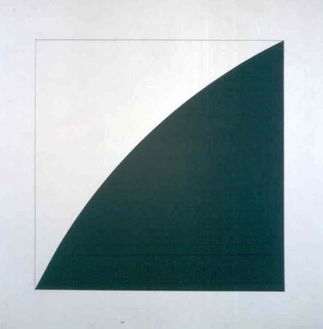 Ellsworth Kelly Black Curve Radius 50, 1976