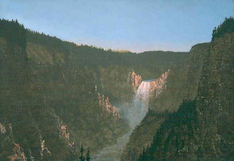 Stephen Hannock Study: Yellowstone Falls 1872-1997, 1997
