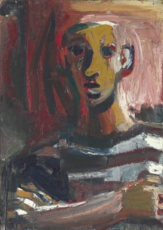 David Park, Boy in Striped Shirt, 1959