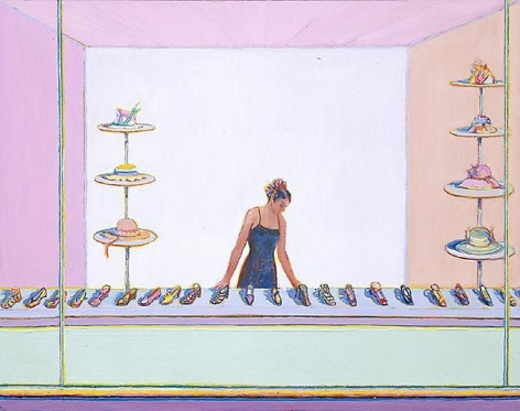 Wayne Thiebaud Shoes and Hats, 2003