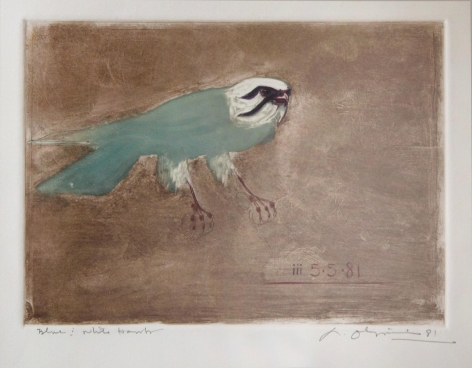 Nathan Oliveira Blue and White Hawk, 1981