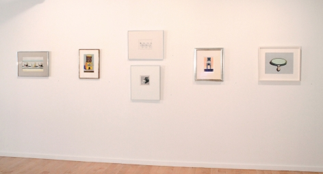 Installation view ofWayne Thiebaud: Paintings and Pastels, 2012